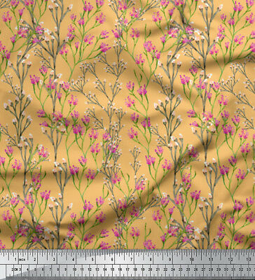 Soimoi Fabric Flowers & Buds Watercolor Printed Fabric 1 Meter - WC-526P