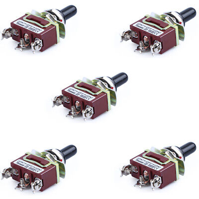 5x 20A 125V Heavy Duty SPDT 3 Term (ON)-OFF-(ON) Momentary Toggle Switch On Sale