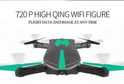 Elfie Foldable Pocket Drone Mini FPV Quadcopter Selfie 720P WiFi Camera RTF JY01