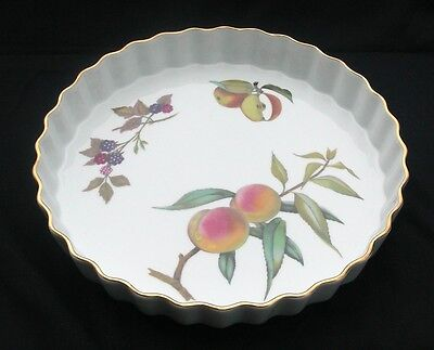 "ROYAL WORCESTER EVESHAM Porcelain 10 1/4"" Flan Oven-to-Table Dish 1 1/2"" Deep"