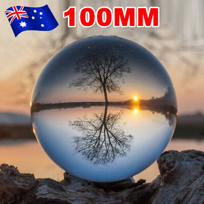 100mm Clear Healing Crystal Ball Photography Lens Ball Sphere Decoration