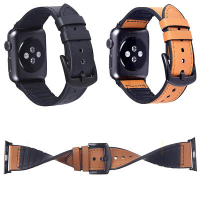 Leather +Silicone Sports Band Strap Bracelet Belt for Apple Watch Series 4 3 2 1