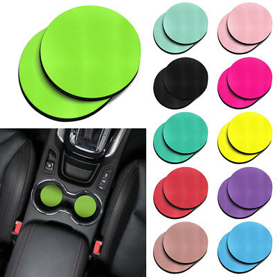 2PCS Round Colorful Absorbent Neoprene Fabric Cup Mug Holder Car Coasters