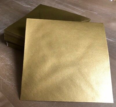 Envelopes Large Square Luxury Gold 170 X 170mm 500 Pack