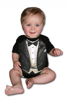 aef846cd448d SPIRAL DIRECT TUXED babygrow baby grow suit tuxedo goth skull ...