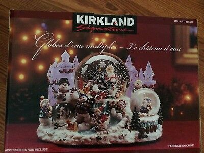 Kirkland Signature Multi Waterglobe Ice Castle #460457 NEW IN BOX