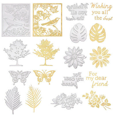 Metal Hot Stamping Foil Dies Flower Birds Shoped Model Scrapbooking Album Crafts