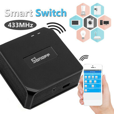 Sonoff RF Bridge WiFi 433MHz Smart Cellphone Remote Switch Home Automation