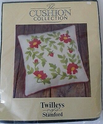Twilleys of Stamford Cushion Kit Long Stitch 2235 Red Flowers New