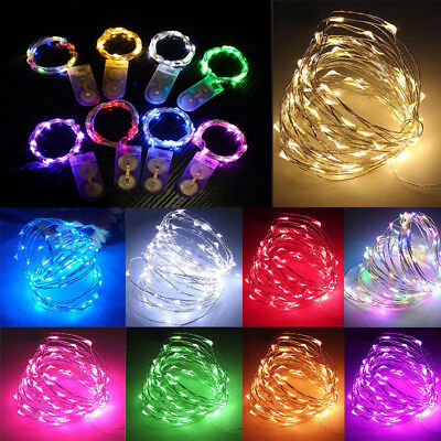 20/30/50 LED Battery Micro Rice Wire Copper Fairy String Lights Party Wedding