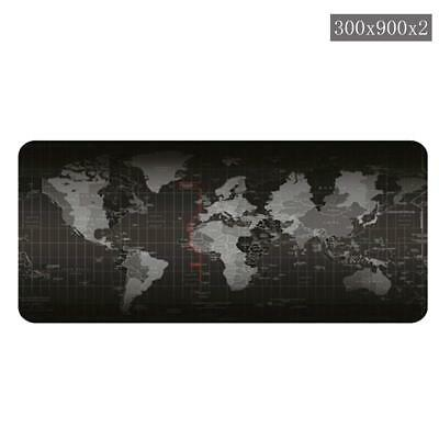 World Map Gaming Mouse Pad - Quality Portable Large Desk Pad Non-slip Rubber