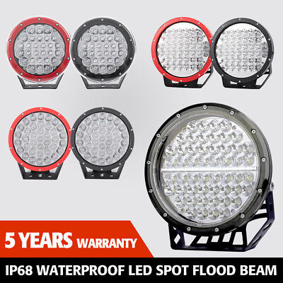 2 Pcs 7/9 Inch LED Work Spot Lights DRL Driving Light Round Spotlights 370W 520W