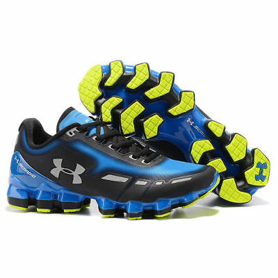2018 Men's Under Armour Mens UA Scorpio Running Shoes BLACK & BLUE Leisure Shoes