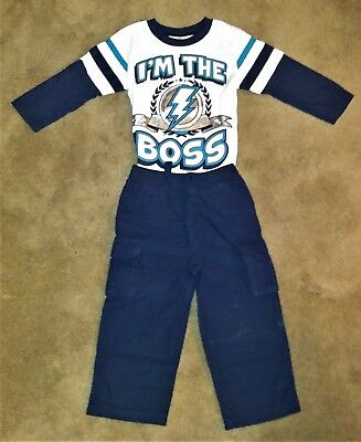 "Garanimals Boy's 2-Pc Toddler Shirt ""i'm The Boss"" & Pants Brand New With Tags"