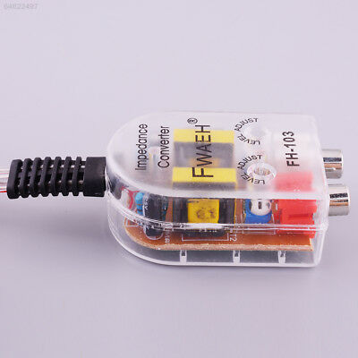 Level Car Speaker High to Low Impedance Converter Amplifier 2 Channel Line Out