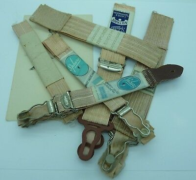 Small Lot Of 1940s Vintage Ladies' Suspender Straps~Old Shop Stock~Sphere