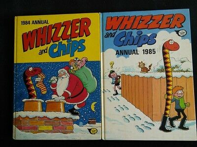 Whizzer and Chips Comic Annuals 1984+1985