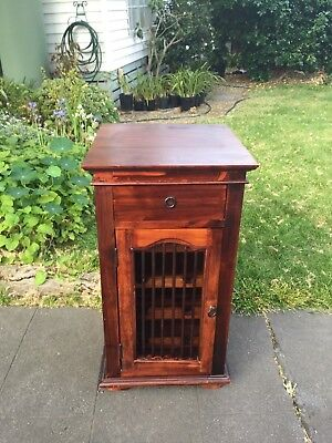 Rustic Timber Hall Cupboard with Wine Storage!