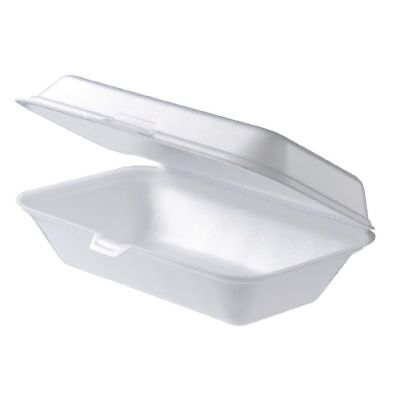 300 x Foam Large Snack Box Clam TakeAway Container Disposable 230X150X70mm CHEAP
