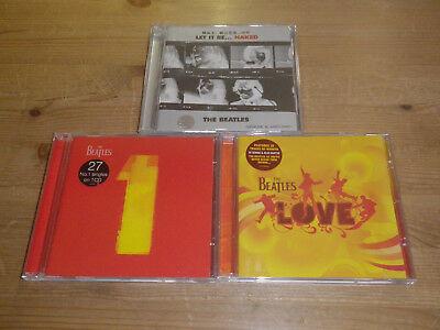 THE BEATLES: Love/ 1/ Let It Be... Naked (JAPAN PRESS), LOT WITH 3 CD`S, MINT!!