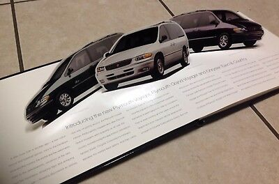 Rare Out of Production Promotional Chrylser Minivan Pop Up Book Brochure NR!