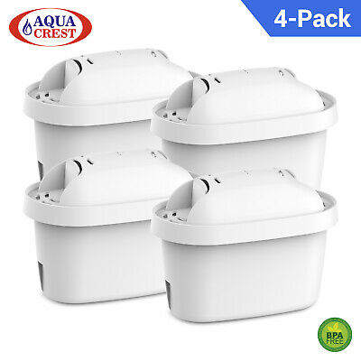 4 AquaCrest Compatible with Brita Mavea Maxtra Jug Filter Cartridges