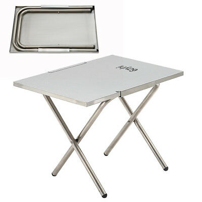 "Portable Stainless Steel Foldable Work Table Desk 48"" L x 24"" W Outdoor BBQ"