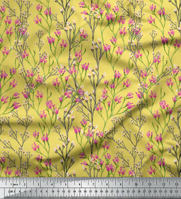 Soimoi Fabric Flowers & Buds Watercolor Print Fabric by Meter - WC-526O
