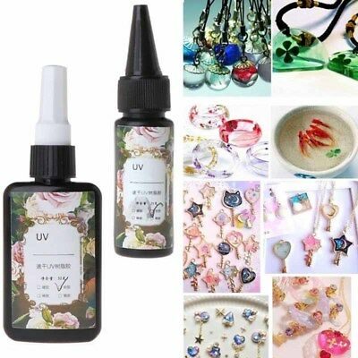 UV Resin Hard Type Ultraviolet Solidify Resin Crafts Clear Adhesive DIY Jewelry