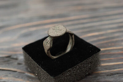 Antique Medieval Ring Ancient Bronze Ring with Ornament c.16th-17th century