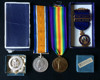 British War & Victory Medal Pair with SWB - Irish - Munster Fusiliers