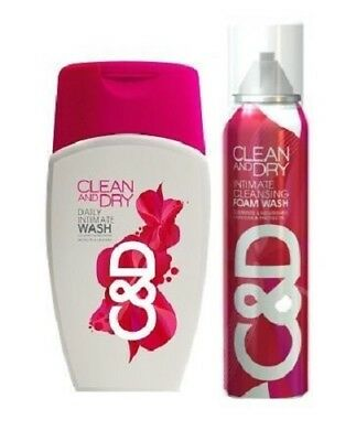 Clean and Dry Combo of Cleansing Foam and Intimate Wash (Free shipping world)