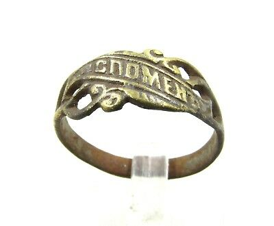 Authentic Post Medieval Soldiers Rememberance Ring - Wearable - G964