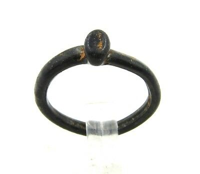 Authentic Ancient Roman / Early Byzantine Glass Ring - G967