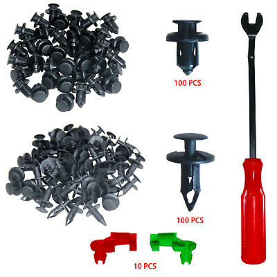 Car Vent Body Clips Plastic Fasteners Rivet Kits 200 Pcs Retainer For Ford