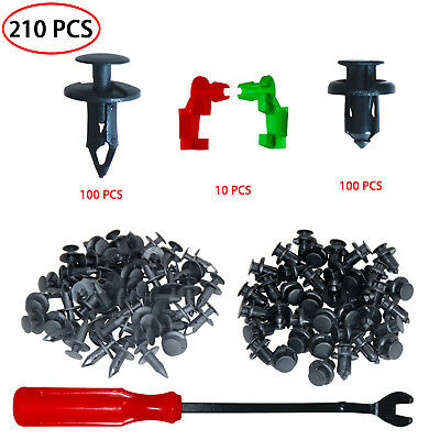 Fasteners Rivet Kits Car Panel Trim Universal Retainer Push Kit 200 Pcs For Ford