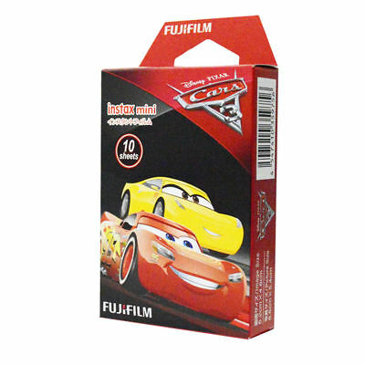 Fujifilm Instax Mini Instant Disney Pixar Cars Film, 10 Sheets