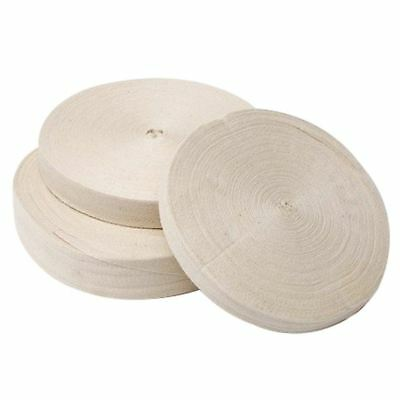 KRAFTZ® 3 X 20 mm OR 2cm X 50M Roll Cotton Bunting Tape White, Natural /& Black