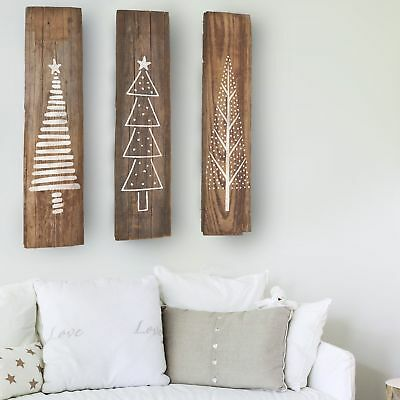 Set of 3 Christmas Tree Stencils for Painting Wood Signs Plaques Wall Art