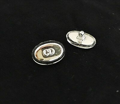 NEW Replacement Nose Pads for Christian Dior Mirror Sun glasses Silver Chrome CD