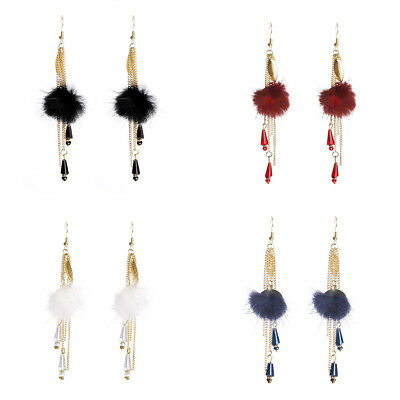 Bohemia Retro Long Earring Feather Chain/Link Dangle Drop Tassels Statement