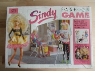 Vintage Sindy Doll Fashion Board Game - 100 per cent complete Girls Play Barbie