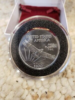 2008 $100 PLATINUM EAGLE STATUE OF LIBERTY 1 Oz.