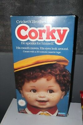 Vintage Playmates Corky Doll Cricket's Brother Original Box 25 inch