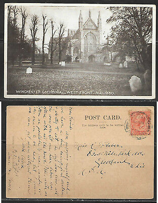 UK, Hampshire, Winchester Cathedral, West Front, mailed