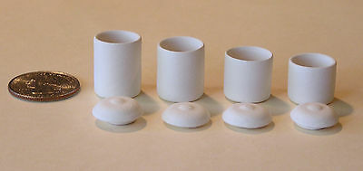 """One """"Canister set of 4 with lids"""" bisque scale miniature by Tim Van Schmidt"""