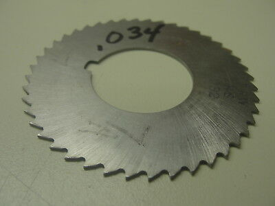 """Horizontal Milling Cutter .034 Thick 1"""" Arbor ( Item 354 )"""