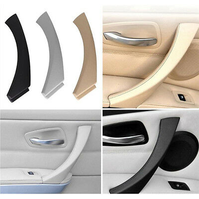 Inner Door Panel Handle Pull Trim Cover Black For BMW E90 3 Series 3 Color CC