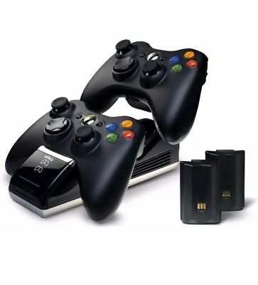 Nyko Xbox 360 Dual Controller Charge Base S Station w/ 2 Batteries - NEW !!!