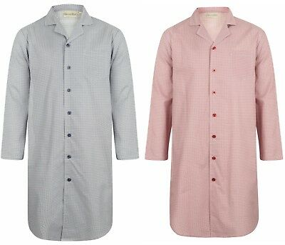 Men's Walker Reid Button Through Nightshirt. Premium Quality 100% Woven Cotton